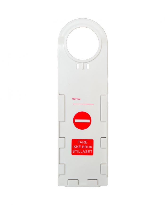 Kortholder for godkjenningskort kontrollkort til stillas